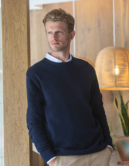 Crew Neck Lambswool Jumper Henbury H735 - Swetry męskie