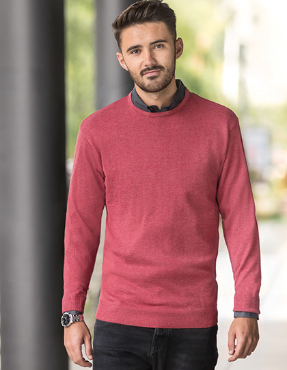 Mens Crew Neck Knitted Pullover Russell Collection R-717M - Swetry męskie
