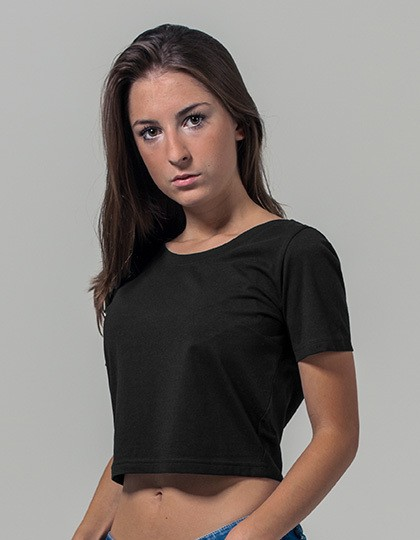 Ladies Cropped Tee Build Your Brand BY042