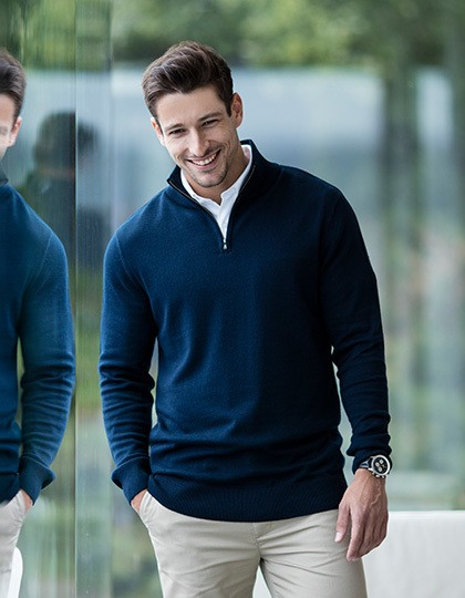 Mens Quarter Zip Jumper Henbury H729 - Swetry męskie