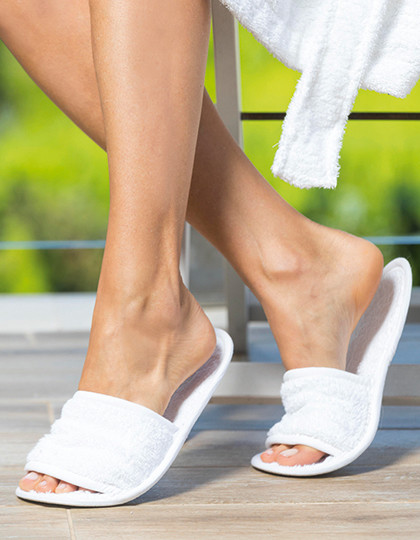 Classic Terry Slippers - Open Toe Towel City TC064