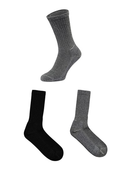 Fruit Work Gear Socks 3 Pair Pack Fruit of the Loom 67-608-Z - Bielizna reklamowa pod nadruk