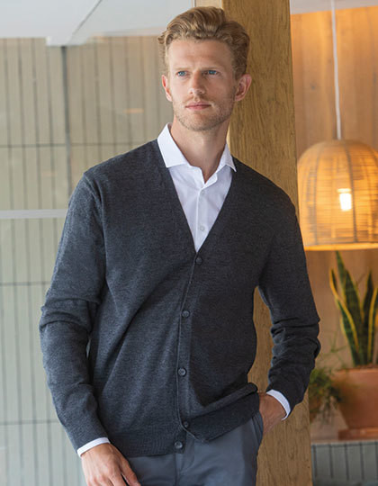 Męski sweter  V Button Cardigan Henbury H722