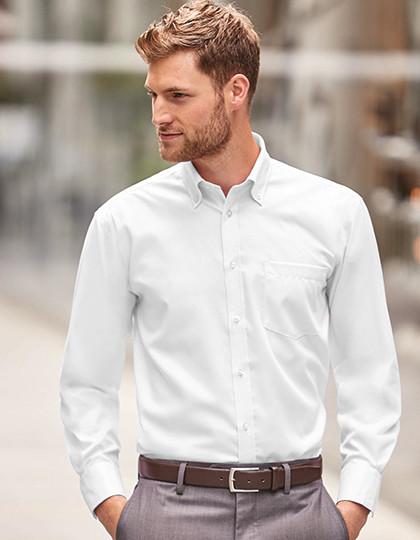 3be1e83d1a Męska koszula bez prasowania z długim rękawem Russell Collection R-956M-0 -  Korporacyjna