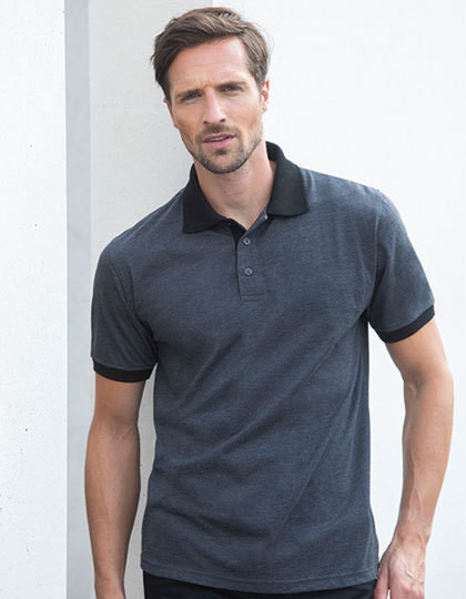 Contrast Tri Blend Polo Shirt Henbury H490