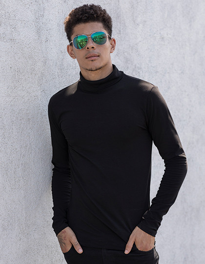 Men`s Feel Good Roll Neck Top SF SF125 - Z długim rękawem