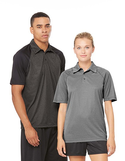 Unisex Performance 3-Button Raglan Polo All Sport M1829 - Sportowe koszulki polo