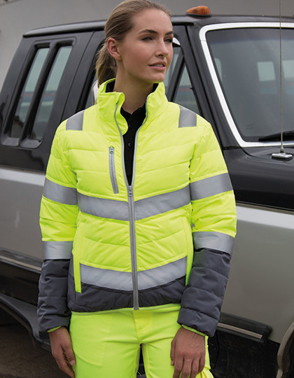 Womens Soft Padded Safety Jacket Result R325F - Kurtki