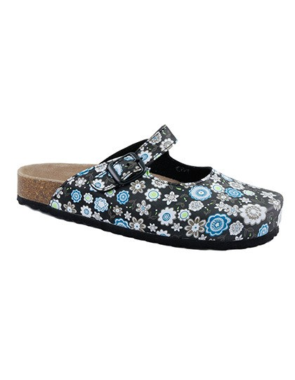 Clogs with floral print Softwaves 276046 - Kapcie