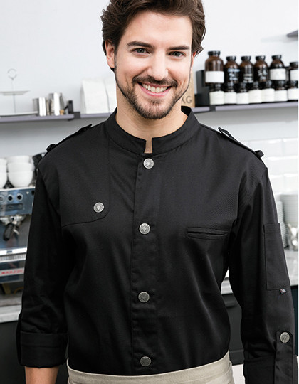Chefs Jacket Bikerstyle with Epaulettes Exner 22220