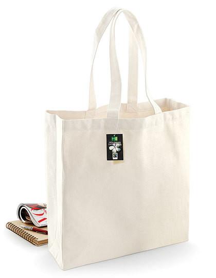 e110d4707e08a Torba nazakupy Shopper (Fairtrade Bawełna) Westford Mill W623 - Torby  bawełniane