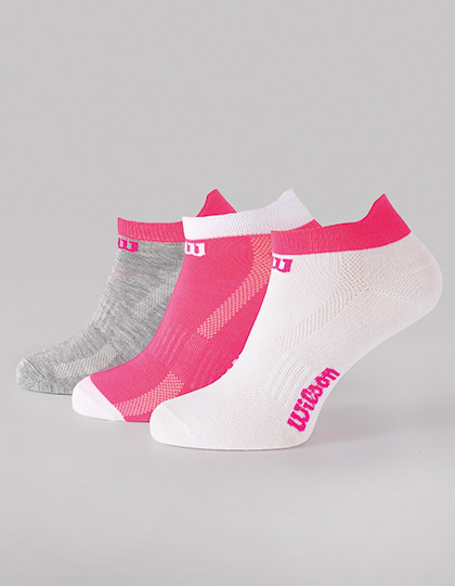 Ladies Training low Socks (3er Pack) Wilson S7008971 - Bielizna reklamowa pod nadruk