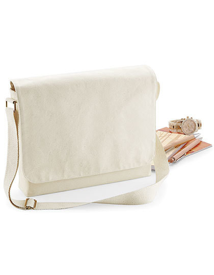 Fairtrade Cotton Canvas Messenger Westford Mill W464 - Torby na ramię