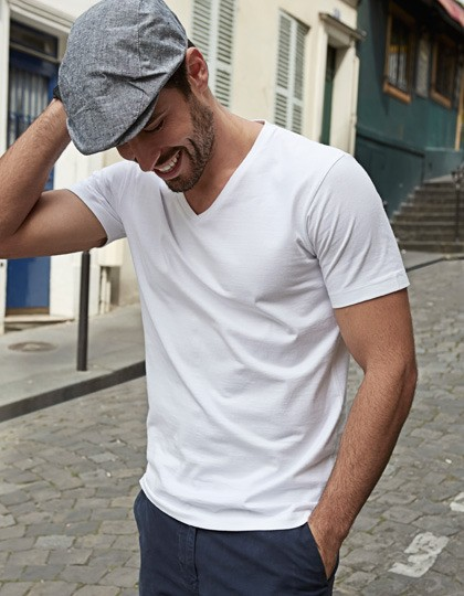 Mens Fashion V-Neck Soft-Tee