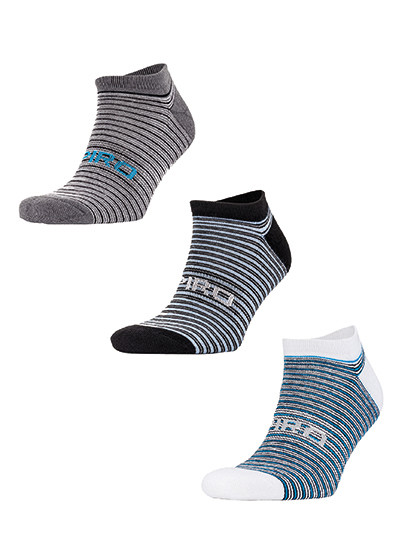 3-Pack Mixed Stripe Sneaker Socks SPIRO S295X