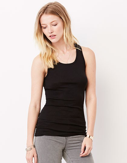 Sheer Rib Racerback Tank Top