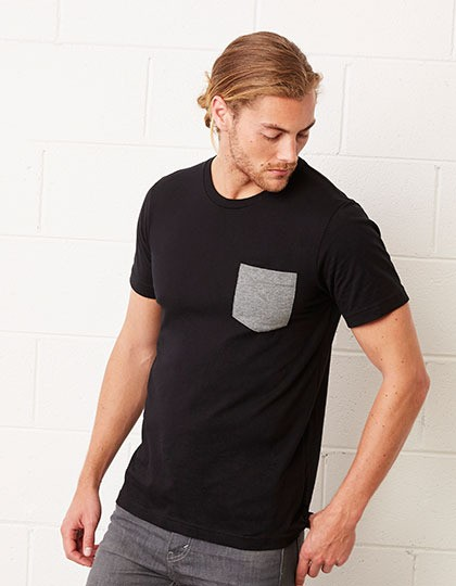 Men´s Jersey Short Sleeve Pocket Tee Canvas 3021 - Z krótkim rękawem