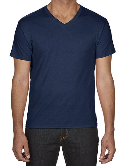 Koszulka Featherweight V-Neck Tee Anvil 362