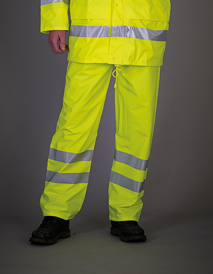 Hi-Vis Soft Flex Breathable Rain Trousers YOKO HVS451
