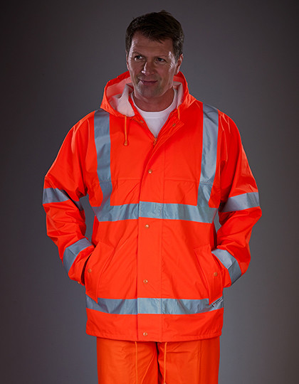 Hi-Vis Soft Flex Breathable Rain Jacket YOKO HVS450
