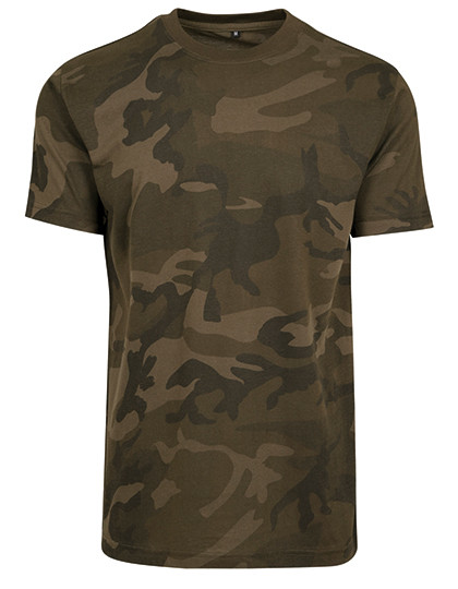 Camo Round Neck Tee Build Your Brand BY109