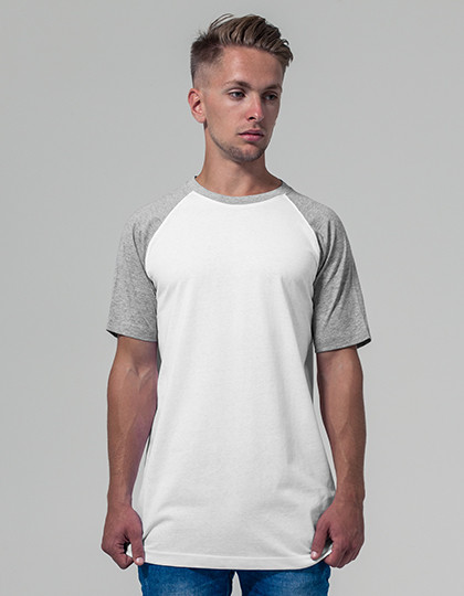 Raglan Contrast Tee Build Your Brand BY007