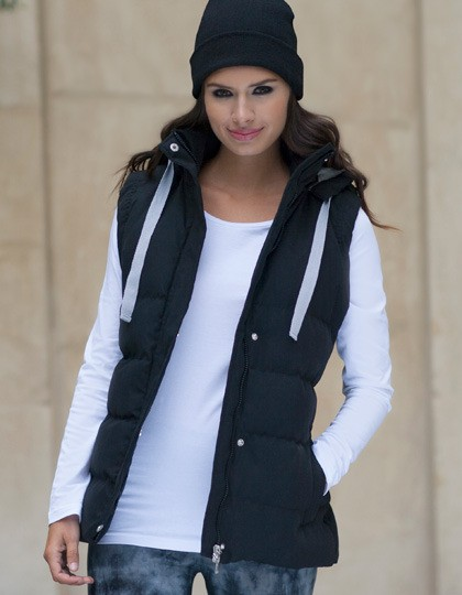 Damskie Gilet With Detachable Hood