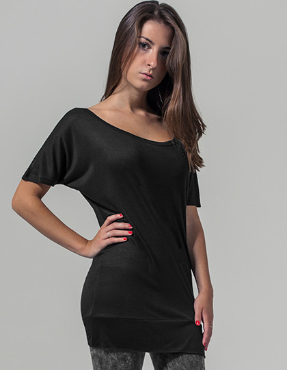 Ladies Viscose Tee Build Your Brand BY040 - Szeroki dekolt