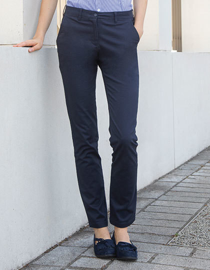 Ladies` Stretch Chino Henbury H651