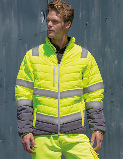 Mens Soft Padded Safety Jacket Result R325M - Kurtki