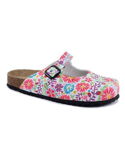 Clogs with floral print Softwaves 276057 - Kapcie