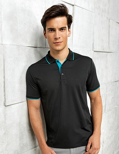 Mens Contrast Coolchecker Polo Premier Workwear PR618