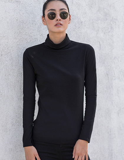 Women´s Feel Good Roll Neck Top SF SK125 - Z długim rękawem