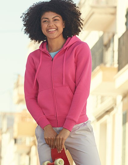 Bluza damska - Fit Premium Hooded Sweat Jacket Fruit of the Loom 62-118-0