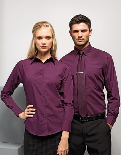 1d68e2d354 Poplin Long Sleeve Shirt Premier Workwear PR200 - Korporacyjna