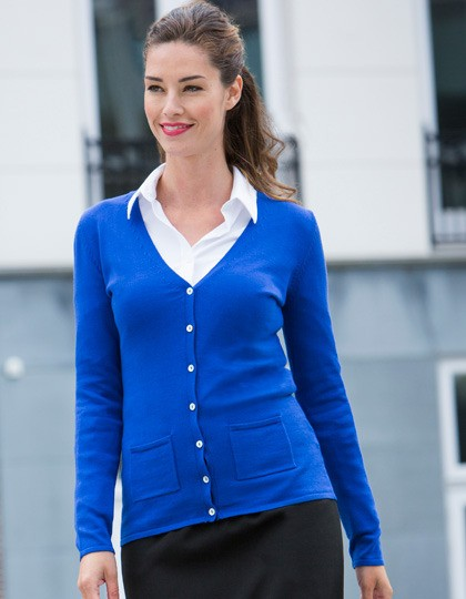 Ladies V Button Cardigan Henbury H723 - Swetry damskie