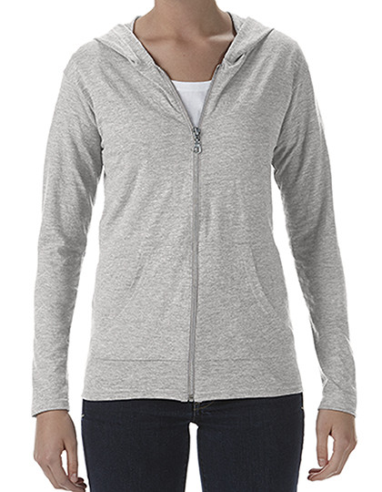 Women´s Tri-Blend Full-Zip Hooded Jacket Anvil 6759L
