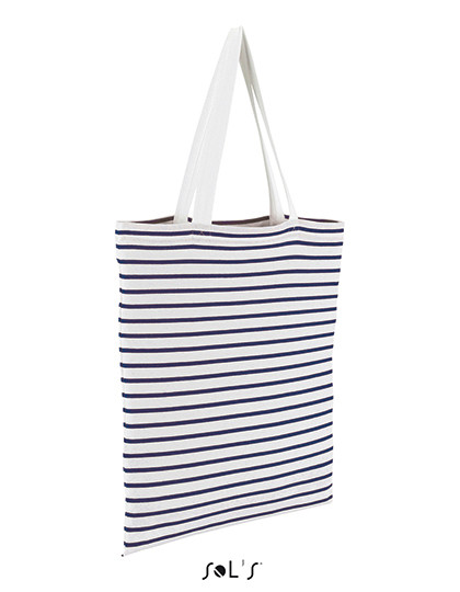 Striped Jersey Shopping Bag Luna SOL´S Bags 02097