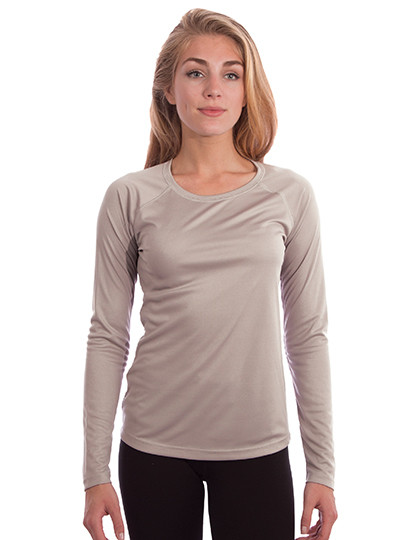 Ladies Solar Performance Long Sleeve T-Shirt Vapor Apparel M750 - Z długim rękawem