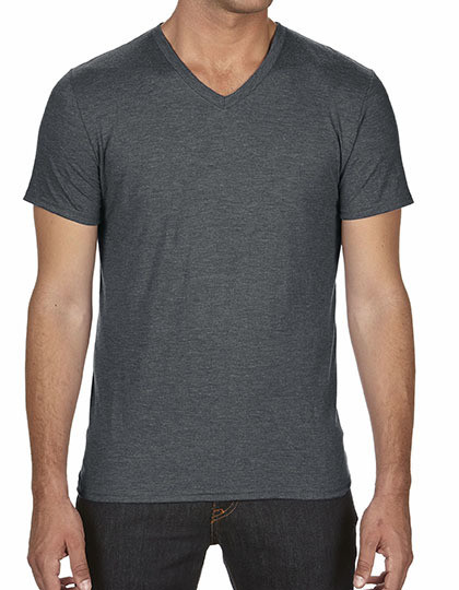 Koszulka Tri-Blend V-Neck Tee Anvil 6752