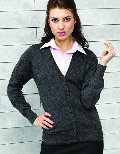 Ladies Button Through Knitted Cardigan Premier Workwear PR697 - Swetry damskie