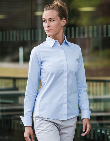 Ladies Ultimate Stretch Shirt Longsleeve Russell Collection R-960F-0 - Koszule damskie