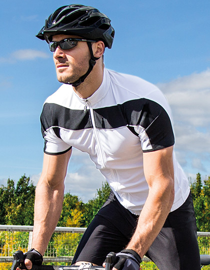 Mens Bikewear Full Zip Performance Top SPIRO S188M - Sportowa