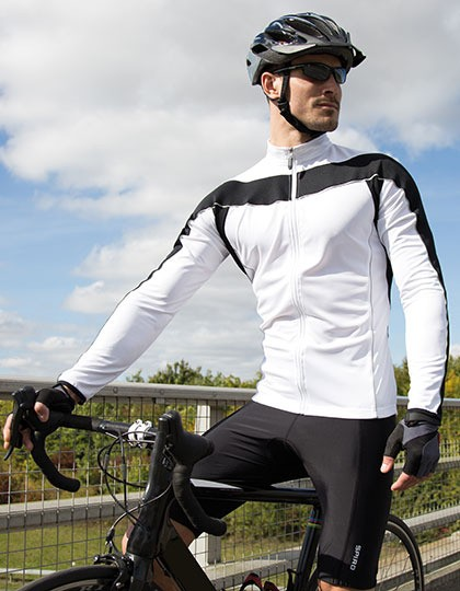 Mens Bikewear Long Sleeve Performance Top SPIRO S255M - Odzież rowerowa