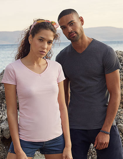 Koszulka damska Fit Valueweight V-Neck T Fruit of the Loom 61-398-0 - Koszulki damskie