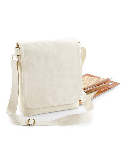 Fairtrade Cotton Canvas Midi Messenger Westford Mill W462 - Torby na ramię
