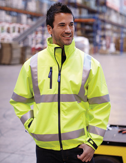 Softshell High Visibility 2 Bands & Braces YOKO HVK09 - Kurtki (Soft-Shell)