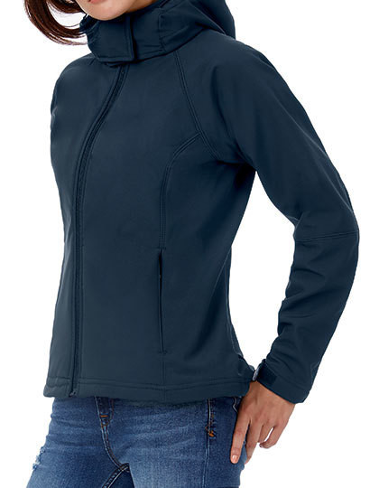 Hooded Softshell / Women B&C JW937 - Kurtki