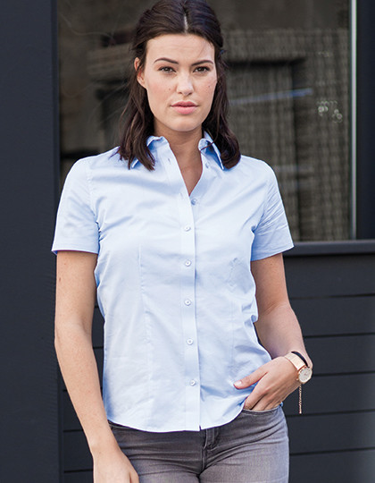 Ladies` Short Sleeve Tailored Coolmax® Shirt Russell Collection R-973F-0 - Koszule damskie