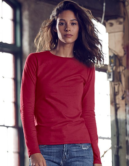 Damska koszulka Fitted Long Sleeve Tee Anvil 374L